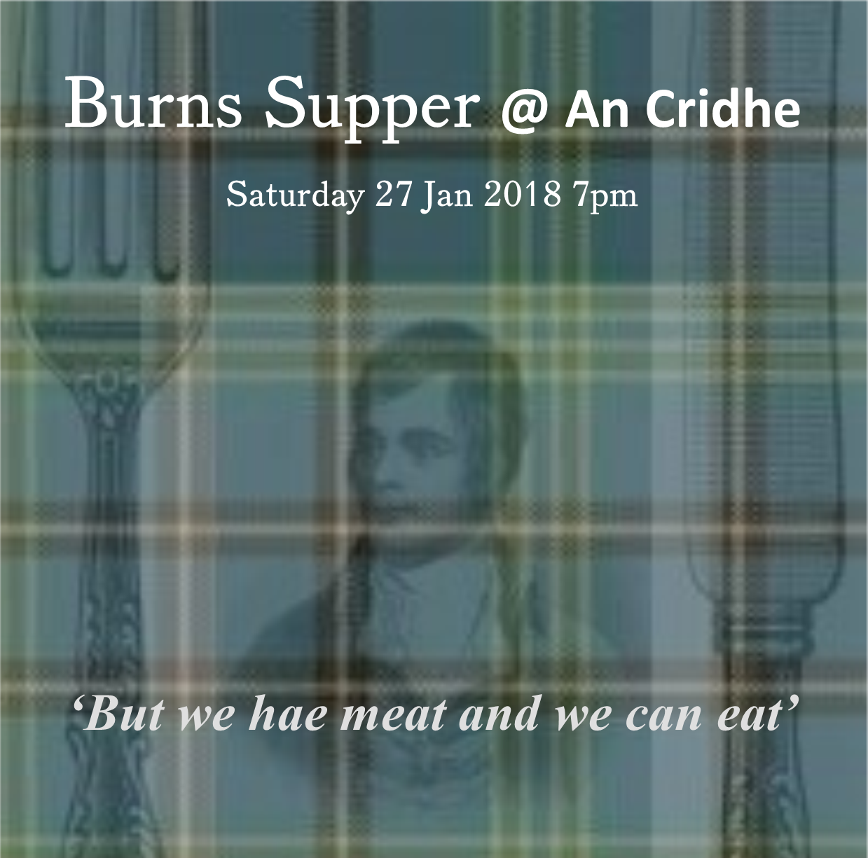 Burns supper with chef darran jamieson an cridhe for Burns supper order of service